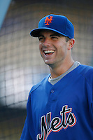 David Wright of the New York Mets during batting practice before a game from the 2007 season at Dodger Stadium in Los Angeles, California. (Larry Goren/Four Seam Images)
