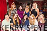 Aishling O Riordan leaving CH chemist after 2 years and going to Dublin to  the benefit boutique having a farewell dinner with work colleague at Cassidys on Saturday Pictured Cindy Walsh, Aine McMahon, Aishling O Riordan , Aoife Molloy, Breda Furlong Back left to right Maeve Rogers, Ann Marie Jones, Carina Bulman, Shauna Lynch