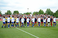 Boyds, MD - Saturday August 12, 2017: Washington Spirit and Boston Breakers starters during a regular season National Women's Soccer League (NWSL) match between the Washington Spirit and The Boston Breakers at Maureen Hendricks Field, Maryland SoccerPlex.