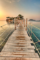 The sunrise at Agios Sostis Island  (Cameo) in Zakynthos, Greece
