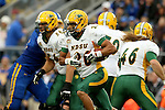 BROOKINGS, SD - OCTOBER 3:  Darrius Shepherd #20 from North Dakota State looks for room against South Dakota State in the first quarter of their game Saturday night at Coughlin Alumni Stadium in Brookings. (Photo by Dave Eggen/Inertia)