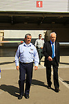 Israeli President Shimon Peres and Air Force Commander Major General Amir Eshel at Palmachim Air Force Base