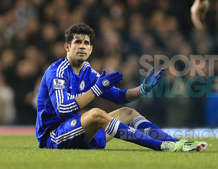 Chelsea's Diego Costa looks on dejected<br /> <br /> Barclays Premier League - Tottenham Hotspur vs Chelsea - White Hart Lane  - England - 1st January 2015 - Picture David Klein/Sportimage