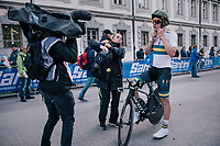 Callum Scotson (AUS)<br /> <br /> MEN UNDER 23 INDIVIDUAL TIME TRIAL<br /> Hall-Wattens to Innsbruck: 27.8 km<br /> <br /> UCI 2018 Road World Championships<br /> Innsbruck - Tirol / Austria