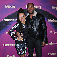 13 May 2019 - New York, New York - Amirah Vann and Patrick Oyeku at the Entertainment Weekly & People New York Upfronts Celebration at Union Park in Flat Iron. Photo Credit: LJ Fotos/AdMedia