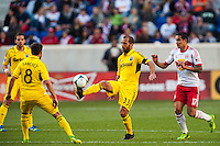 Federico Higuain (33) of the Columbus Crew. The New York Red Bulls and the Columbus Crew played to a 2-2 tie during a Major League Soccer (MLS) match at Red Bull Arena in Harrison, NJ, on May 26, 2013.