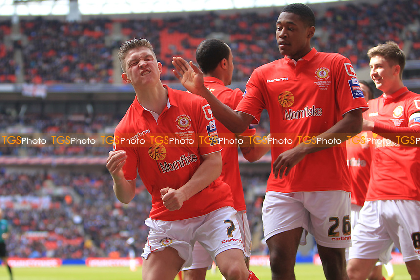 Max Clayton of Crewe Alexandra Celebrates - Crewe Alexandra vs Southend United - Johnstones Paint Trophy Final at Wembley Stadum, London - 07/04/13 - MANDATORY CREDIT: Simon Roe/TGSPHOTO - Self billing applies where appropriate - 0845 094 6026 - contact@tgsphoto.co.uk - NO UNPAID USE