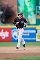 Erie SeaWolves third baseman Kody Eaves (24) rounds the bases during a game against the New Hampshire Fisher Cats on June 20, 2018 at UPMC Park in Erie, Pennsylvania.  New Hampshire defeated Erie 10-9.  (Mike Janes/Four Seam Images)