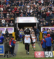 Picture by Anna Gowthorpe/SWpix.com - 15/04/2018 - Rugby League - Womens Super League - Bradford Bulls v Leeds Rhinos - Coral Windows Stadium, Bradford, England - The two team walk out onto the pitch
