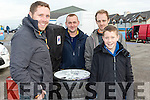 Wet Tyres<br /> -------------<br /> L-R Tom Murphy, Ray Lynch, Jack O'Shea and Darragh Lynch from Glenbeigh at last Sundays Winter Stages rally based and sponsored by Banna resort hotel.