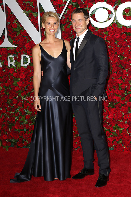 WWW.ACEPIXS.COM<br /> <br /> June 12 2016, New York City<br /> <br /> Claire Danes and Hugh Dancy arriving at the 70th Annual Tony Awards at The Beacon Theatre on June 12, 2016 in New York City.<br /> <br /> By Line: Nancy Rivera/ACE Pictures<br /> <br /> <br /> ACE Pictures, Inc.<br /> tel: 646 769 0430<br /> Email: info@acepixs.com<br /> www.acepixs.com