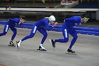 SCHAATSEN: HEERENVEEN: 17-06-2014, IJsstadion Thialf, Zomerijs training, Gianni Romme, Yvonne Nauta, Ireen Wust, ©foto Martin de Jong