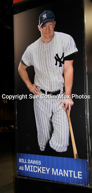 "Bill Dawes - ""Mickey Mantle"" - AMC & OLTL -  Bronx Bombers on February 9, 2014 at Circle in the Square Theatre, New York City, New York. (Photo by Sue Coflin/Max Photos)"