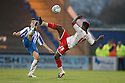 Don Cowan of Stevenage and Lloyd James of Colchester challenge. - Colchester United v Stevenage - Weston Homes Community Stadium, Colchester - 26th December 2011  .© Kevin Coleman 2011