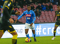 Amadou Diawara of Napoli  during the  italian serie a soccer match,  SSC Napoli - Frosinone       at  the San  Paolo   stadium in Naples  Italy , December 08, 2018