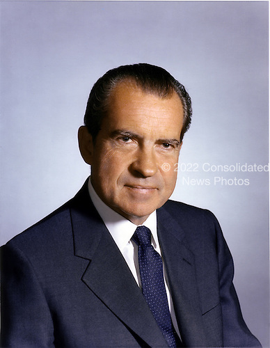 Portrait of the 37th President of the United States, Richard Milhous Nixon, taken in Washington, D.C. on September 28, 1969.<br /> Credit: White House via CNP