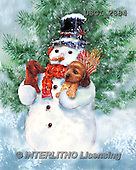 GIORDANO, CHRISTMAS SANTA, SNOWMAN, WEIHNACHTSMÄNNER, SCHNEEMÄNNER, PAPÁ NOEL, MUÑECOS DE NIEVE, paintings+++++,USGI2884,#X# ,#161#