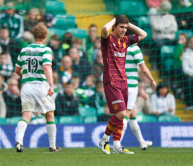 Dejection for Ross Forbes as Motherwell go close