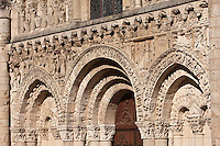 Europe/France/Poitou-Charentes/86/Vienne/Poitiers:  Eglise Notre-Dame la Grande -Détail de la façade