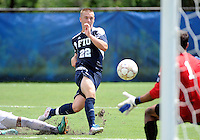 Florida International University men's soccer player Quentin Albrecht (22) plays against Stetson University on September 10, 2011 at Miami, Florida.  FIU won the game in overtime 3-2. .