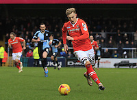 Joe Pigott of Luton Town in action during the Sky Bet League 2 match between Wycombe Wanderers and Luton Town at Adams Park, High Wycombe, England on 6 February 2016. Photo by Liam Smith.