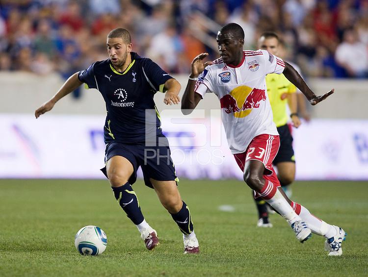 Adel Taarabt, Tony Tchani. Tottenham defeated the New York Red Bulls, 2-1.