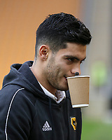 Wolverhampton Wanderers' Raul Jimenez<br /> Photographer Lee Parker/CameraSport<br /> <br /> The Premier League - Wolverhampton Wanderers v Newcastle United - Saturday 11th January 2020 - Molineux - Wolverhampton<br /> <br /> World Copyright © 2020 CameraSport. All rights reserved. 43 Linden Ave. Countesthorpe. Leicester. England. LE8 5PG - Tel: +44 (0) 116 277 4147 - admin@camerasport.com - www.camerasport.com