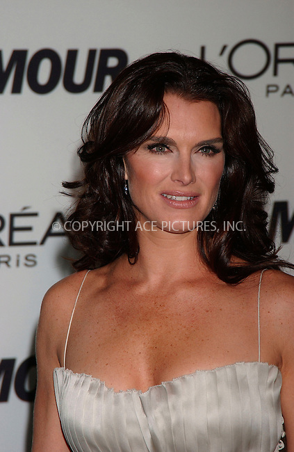 WWW.ACEPIXS.COM . . . . .....November 5, 2007. New York City.....Actress Brooke Shields attends the Glamour Women of the Year Awards at Avery Fisher Hall, Lincoln Center,..  ....Please byline: Kristin Callahan - ACEPIXS.COM..... *** ***..Ace Pictures, Inc:  ..Philip Vaughan (646) 769 0430..e-mail: info@acepixs.com..web: http://www.acepixs.com