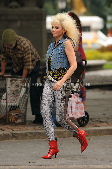 WWW.ACEPIXS.COM . . . . . ....September 9 2009, New York City....Actress Kim Cattrall in 80's style clothes on the set of the new 'Sex and the City' movie on September 9 2009 in New York City....Please byline: KRISTIN CALLAHAN - ACEPIXS.COM.. . . . . . ..Ace Pictures, Inc:  ..tel: (212) 243 8787 or (646) 769 0430..e-mail: info@acepixs.com..web: http://www.acepixs.com