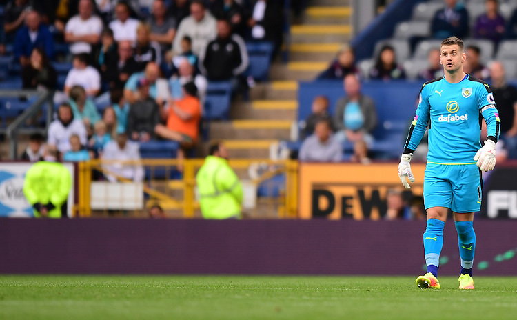 Burnley's Thomas Heaton<br /> <br /> Photographer Chris Vaughan/CameraSport<br /> <br /> Football - The Premier League - Burnley v Swansea City - Saturday 13th August 2016 - Turf Moor - Burnley<br /> <br /> World Copyright &copy; 2016 CameraSport. All rights reserved. 43 Linden Ave. Countesthorpe. Leicester. England. LE8 5PG - Tel: +44 (0) 116 277 4147 - admin@camerasport.com - www.camerasport.com
