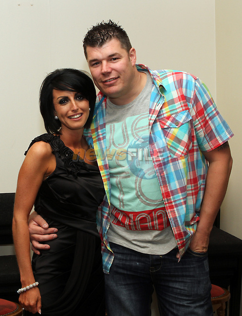 Joanne Boyle with Martin Kirby at her 30th in the Rugby Club...(Photo Jenny Matthews/www.newsfile.ie)