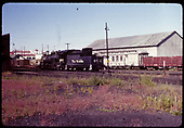 D&amp;RGW #484 K-36 in Chama with RPO &amp; gondola in background next to warehouse.<br /> D&amp;RGW  Chama, NM  6/29/1965