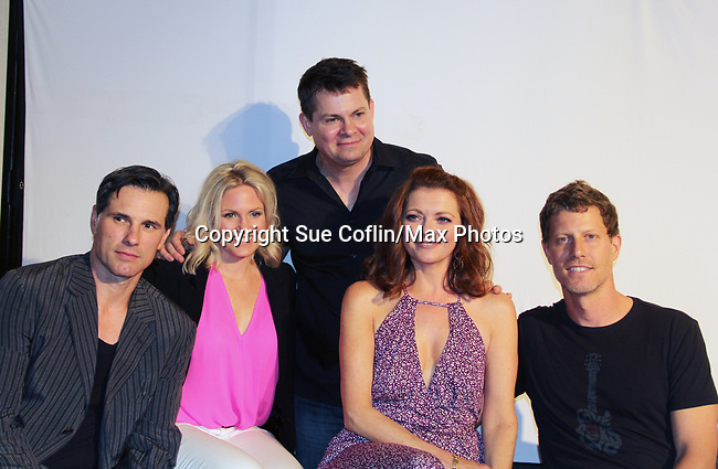 """As The World Turns' Austin Peck, Terri Conn, Anne Sayre, Eric Sheffer Stevens support Trent Dawson -  """"The F"""" - a Benefit for the film was held on June 22, 2018 at the Freeman Studio, New York City, New York. (Photo by Sue Coflin/Max Photo)"""