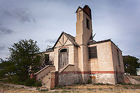 Old abandoned church building in Monument, KS