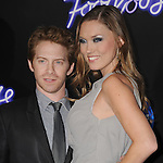 "WESTWOOD, CA - OCTOBER 03: Seth Green and Clare Grant attend the ""Footloose"" Los Angeles Premiere at Regency Village Theatre on October 3, 2011 in Westwood, California."