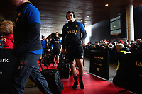 Josh Bayliss and the rest of the Bath Rugby team arrive at the Stade Ernest Wallon. Heineken Champions Cup match, between Stade Toulousain and Bath Rugby on January 20, 2019 at the Stade Ernest Wallon in Toulouse, France. Photo by: Patrick Khachfe / Onside Images
