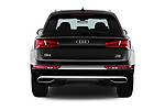 Straight rear view of 2017 Audi Q5 Sport 5 Door SUV Rear View  stock images