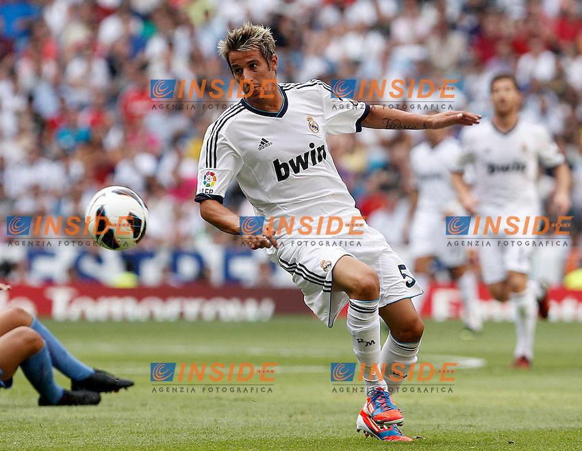 Real Madrid's Fabio Coentrao during La Liga match.August 19,2012. (ALTERPHOTOS/Acero) .Madrid 19/8/2012 Stadio Santiago Bernabeu.Real Madrid Vs Valencia Liga 2012/2013.Foto Insidefoto