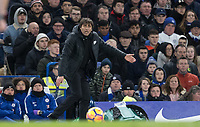 Chelsea Manager Antonio Conte during the Premier League match between Chelsea and West Bromwich Albion at Stamford Bridge, London, England on 12 February 2018. Photo by Andy Rowland.