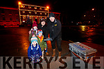 Ciara, Orla John and Seán Drummey, with Donal McMahon setting off the Fireworks in Tralee on New Years Eve.