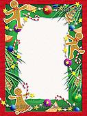 Randy, CHRISTMAS SYMBOLS, WEIHNACHTEN SYMBOLE, NAVIDAD SÍMBOLOS, paintings+++++Gingerbread-Frame,USRW85,#xx# ginger bread