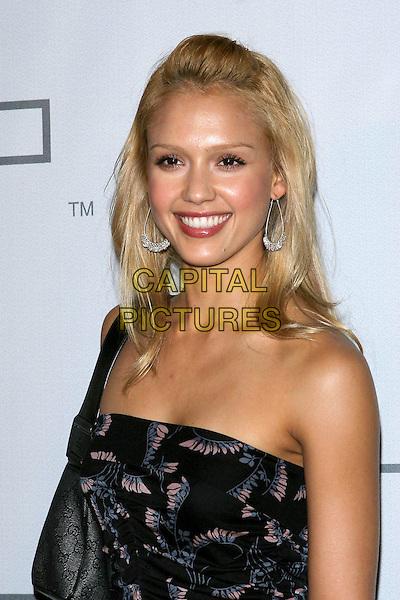 JESSICA ALBA.PSP North American Launch Party held at the Pacific Design Center, West Hollywood, CA..March 14th, 2005.Photo Credit: Jacqui Wong/AdMedia.headshot portrait strapless dangling earrings.www.capitalpictures.com.sales@capitalpictures.com.© Capital Pictures.