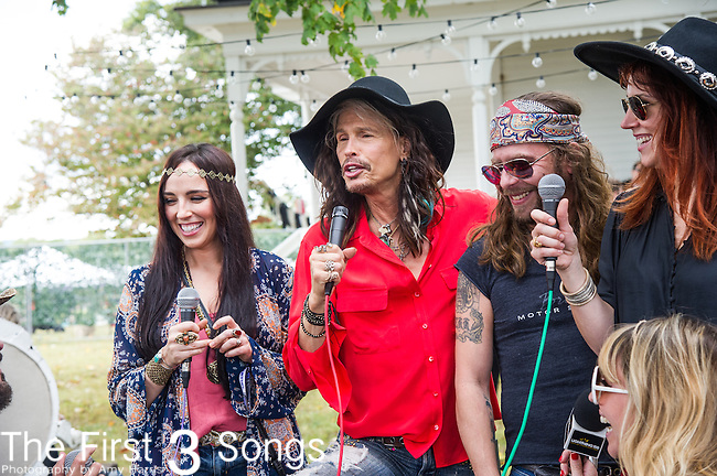 Steven Tyler at the 2015 Pilgrimage Music & Cultural Festival in Franklin, Tennessee.