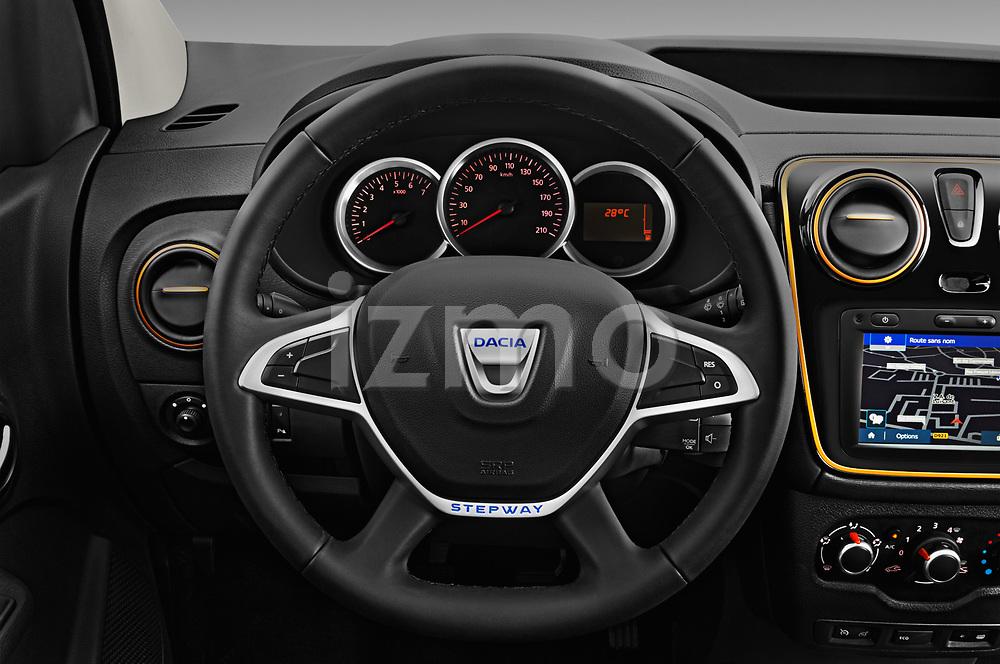 Car pictures of steering wheel view of a 2017 Dacia Dokker Stepway SL Explorer 5 Door Mini Van