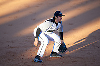 Wisconsin-Milwaukee Panthers third baseman Joe Vyskocil (21) during a game against the Bethune-Cookman Wildcats on February 26, 2016 at Chain of Lakes Stadium in Winter Haven, Florida.  Wisconsin-Milwaukee defeated Bethune-Cookman 11-0.  (Mike Janes/Four Seam Images)