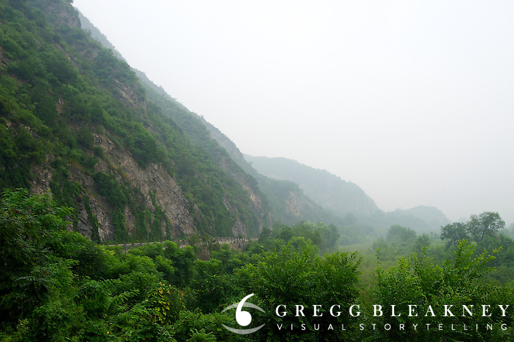 A view from the start of a short climbing circuit from stage 2 -- 133.5km from the Bird's Nest in Beijing to Mentougou via North Gate of Summer Palace. 2011 Tour of Beijing Scouting Photos