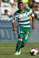 CARSON, California - July 8, 2012: Team Leon FC defeated Santos Laguna FC 2-0 during an International friendly match at Home Depot Center stadium.
