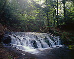 Greenstone Falls, Porcupine Mountains Wilderness State Park, Michigan, June, 1986.