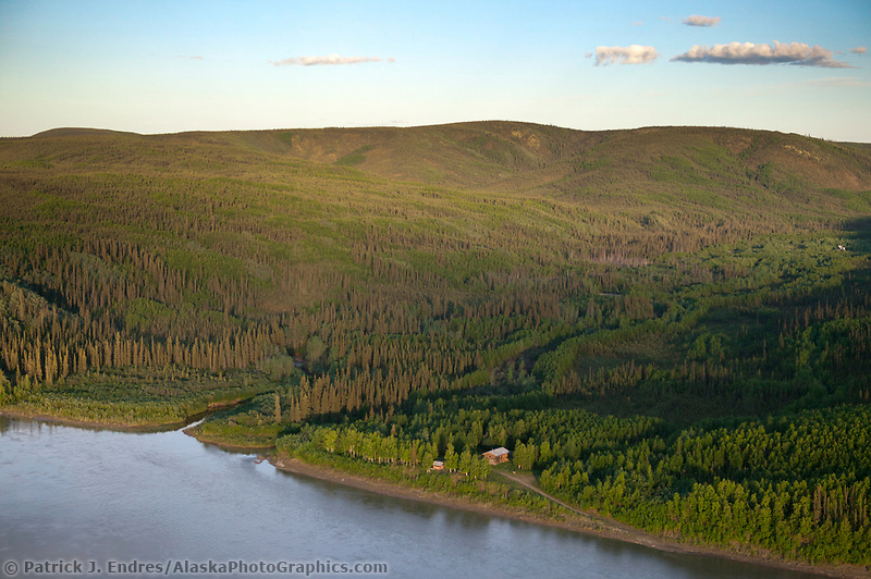 Historic Slaven's Roadhouse along the Yukon River, Yukon Charley Rivers National Preserve, Alaska