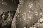 Star Trails Over the Juggler Rock Art